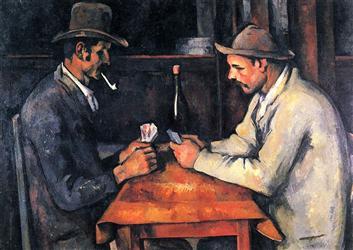 """1. PAUL CÉZANNE """"Los Jugadores de Cartas"""", 1892/93"""