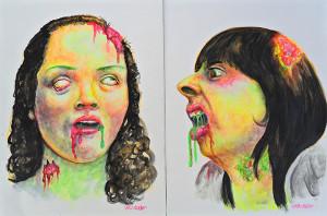 retrato zombie