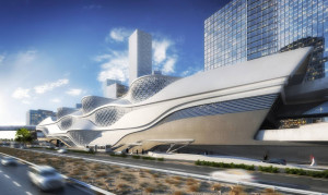 King Abdullah Financial District Metro Station por Zaha Hadid