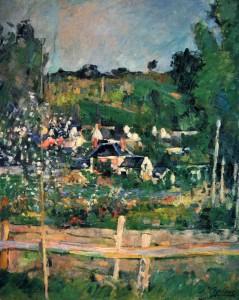 Vista de Auvers-sur-Oise, Paul Cezanne.www.artelista.com