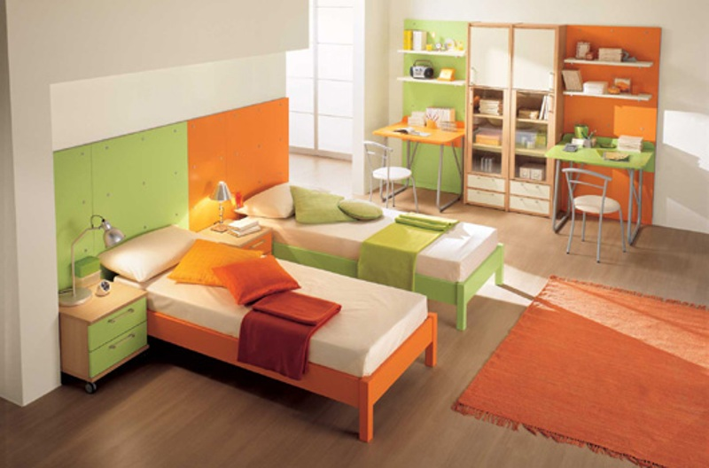 Baño Dormitorio Feng Shui:Orange and Green Kids Rooms Decorating Ideas