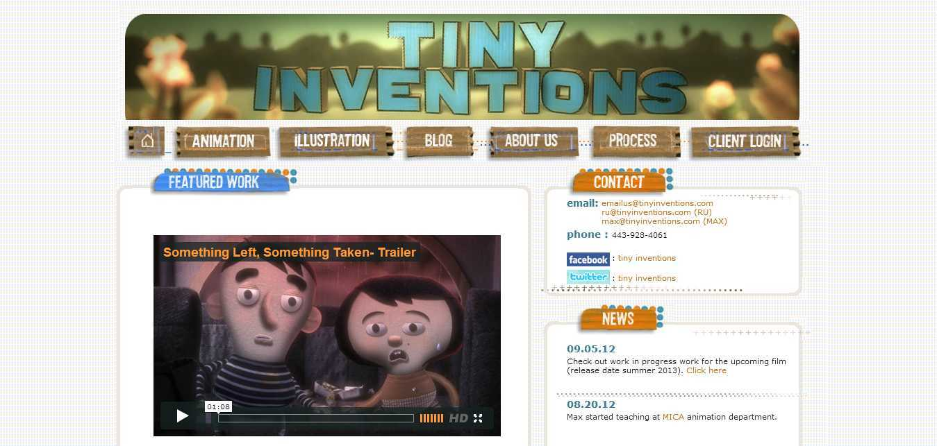 TINY INVENTIONS- Homecooked animation for the 21st century!