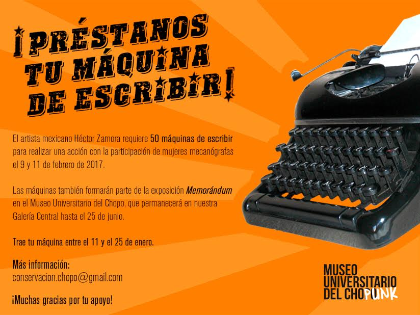¡Préstanos tu máquina de escribir!